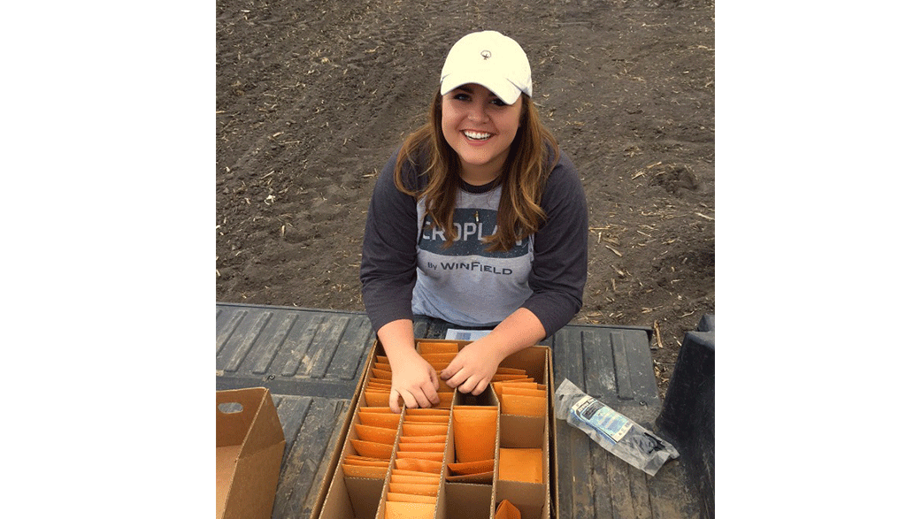 Sara Smelser With Samples In A Truck
