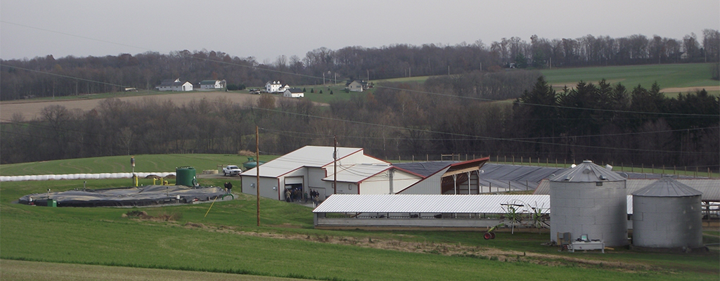 Cliff and Andrea Sensenig's 100-cow dairy operation in Kirkwood, Pennsylvania.